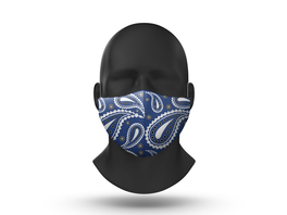 Gogglesoc Facemask Blue Paisley