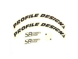 Pr. Design Laufradsticker - 58 TwentyFour Schwarz