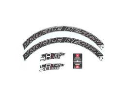 Pr. Design Laufradsticker - 58 TwentyFour Weiß