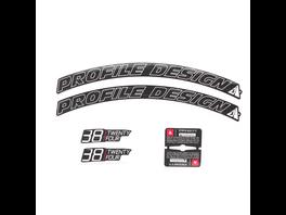 Profile Design Laufradsticker - 38 TwentyFour Weiß