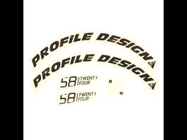 Profile Design Laufradsticker - 58 TwentyFour Schwarz
