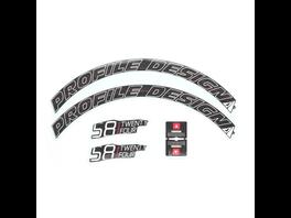Profile Design Laufradsticker - 58 TwentyFour Weiß