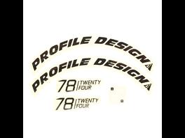 Profile Design Laufradsticker - 78 TwentyFour Schwarz