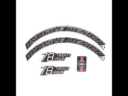Profile Design Laufradsticker - 78 TwentyFour Weiß