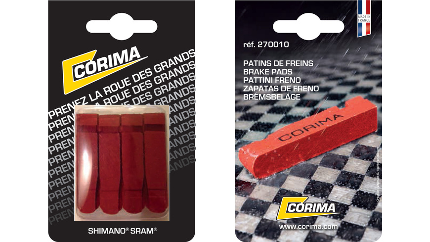 Corima Brake Pads (Blister of 4) Shim/Sram